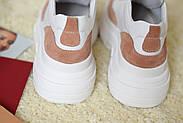Женские кроссовки Atomio Lardini на высокой подошве натуральная кожа\замш, фото 8