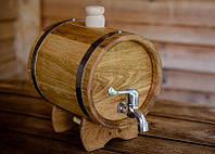 Дубовая бочка жбан для алкоголя 5 литров