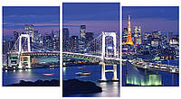 Модульная картина Ночной город 100х53 см