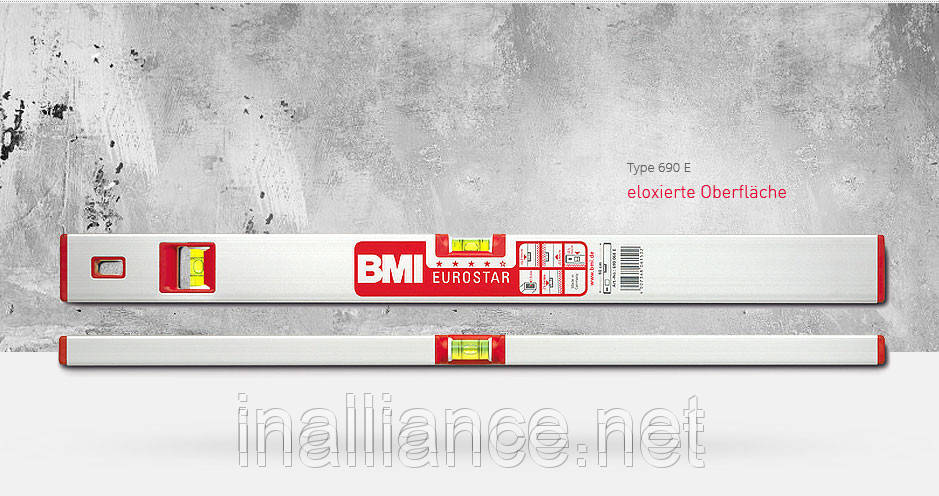 Уровень строительный 40 см профессиональный EUROSTAR BMI 690040E