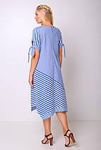 Женское свободное полосатое платье больших размеров (Лира lzn), фото 3