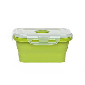 Ланчбокс силиконовый складной (зеленый) 350мл