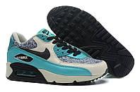 Кроссовки женские Nike Air Max 90 (nike max, найк аир макс, nike air, аир 90, оригинал) серо-голубые