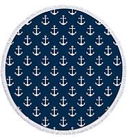 Пляжный коврик Якоря микрофибра 150см