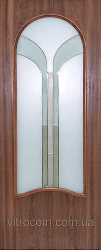 Витраж дверной KS-34 Фонтан