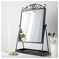 Зеркало настольное Черный IKEA KARMSUND