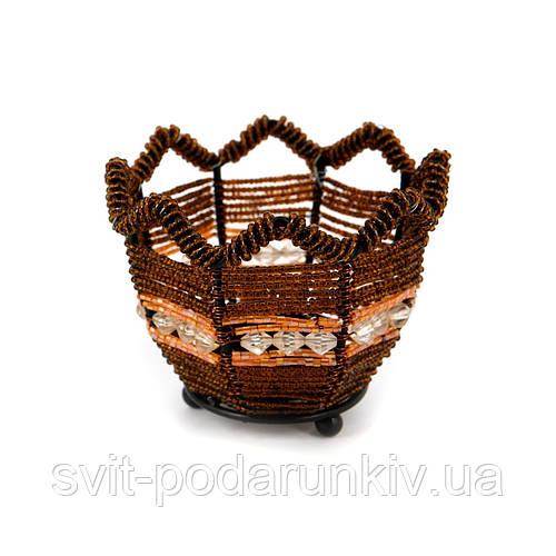 Оригинальный подсвечник бисер PC-3 коричневый