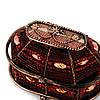 Шкатулка для украшений из бисера красная SC-2, фото 4