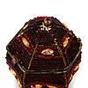 Шкатулка для хранения украшений из бисера красная SD-2, фото 4