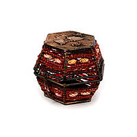 Шкатулка для драгоценностей из бисера красная SА-1