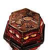 Шкатулка для драгоценностей из бисера красная SА-1, фото 4