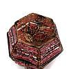 Шкатулка для украшений и драгоценностей из бисера розовая SА-3, фото 4