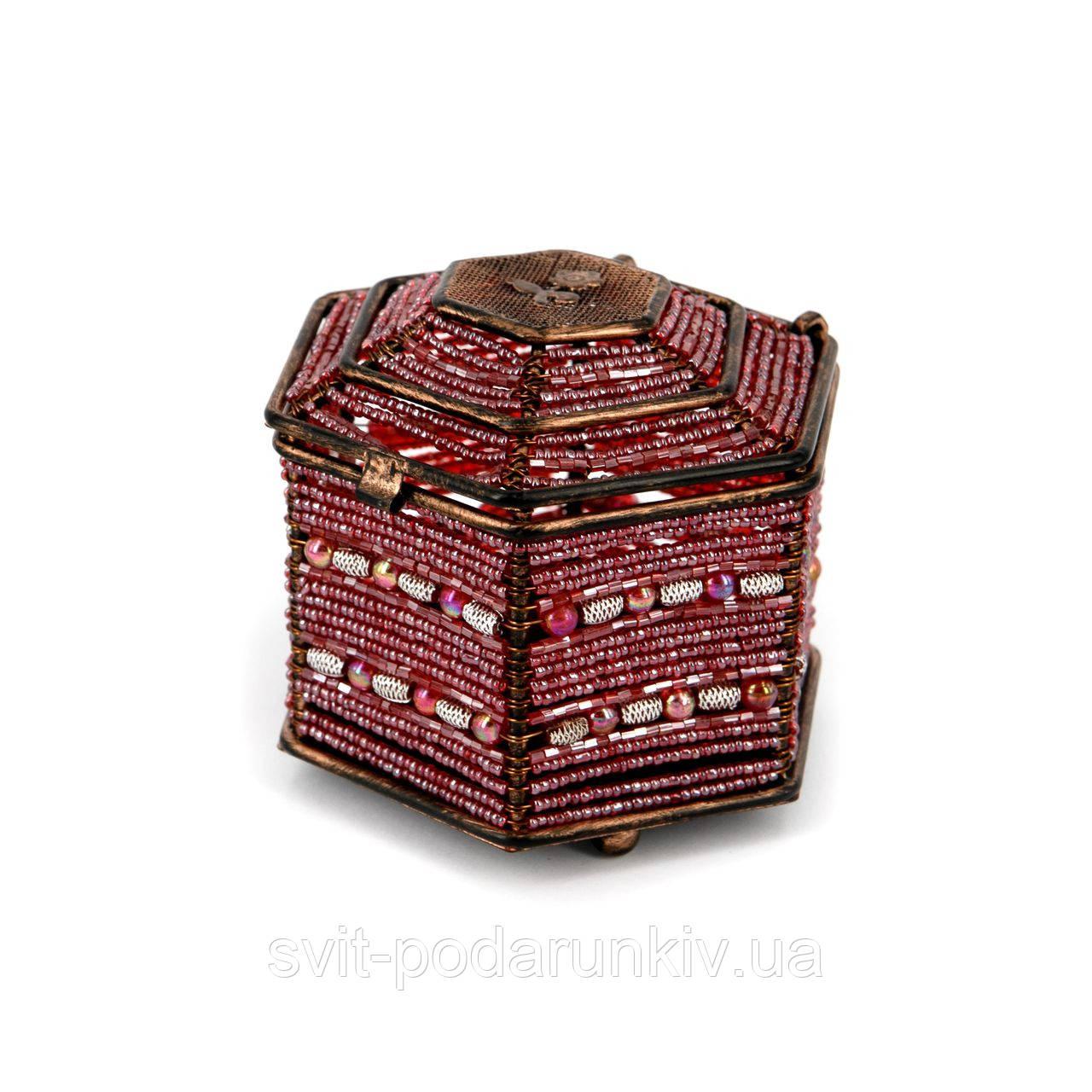 Шкатулка для бижутерии и украшений красная SВ-3
