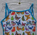 """Цельный купальник для девочки """"Butterfly"""" голубой р. 122-146 см (KEYZI, Польша), фото 2"""