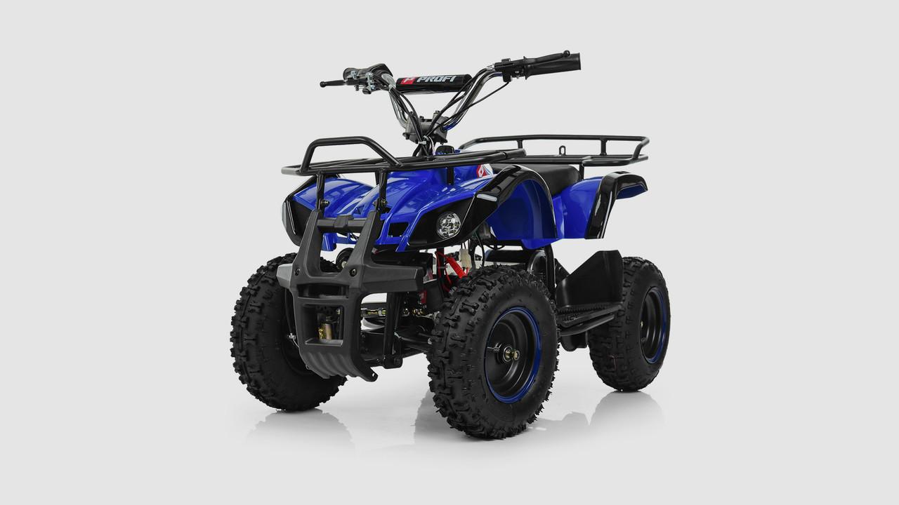 Электромобиль - квадроцикл PROFI с мощным мотором. Синего цвета.