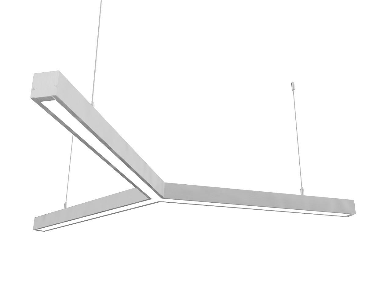 Линейный светодиодный светильник Z-LED 80Вт Y-образный (3x600)