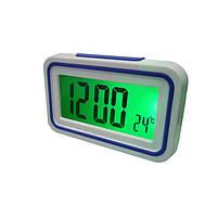 Настольные Часы с голосовыми оповещениями Kenko 9905 TR White-Blue (hub_np2_1606)