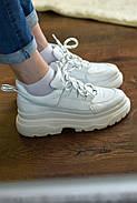 Женские кроссовки Dragani с высокой подошвой, натуральная кожа, фото 8