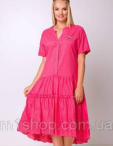 Женское свободное платье с заниженной талией больших размеров (Лаванда lzn)