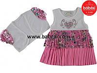 Платье на девочку 1,2,3 года Турция розовае.