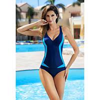 Женский цельный спортивный купальник Aqua Speed Greta 38 Темно-синий