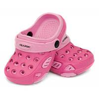 Сабо детские пляжные Aqua Speed Lido, кроксы для девочек розовые размер 19