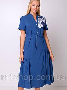 Женское хлопковое платье с кружевом больших размеров (Барлетта lzn)