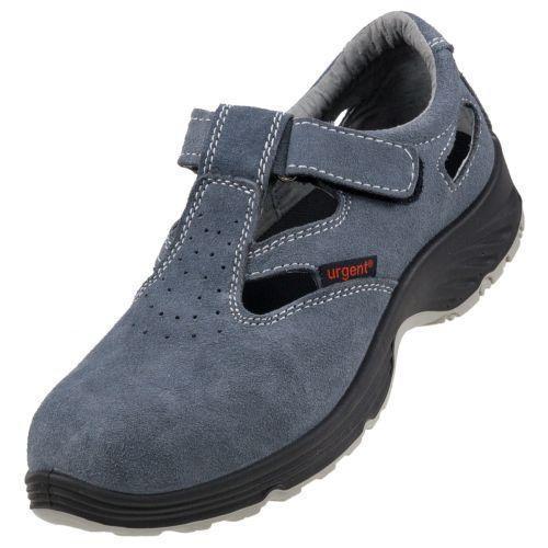 Сандали 302 S1 с  металлическим носком, антистатичные, серого цвета.  Urgent (POLAND)