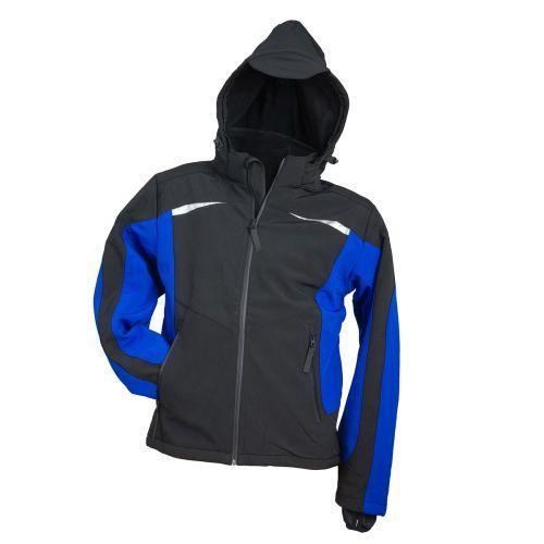 Куртка демисезонная SOFTSHELL SF-1041 MIDBLUE выполнена из полиэстера, черно-синего цвета.  Urgent (POLAND)