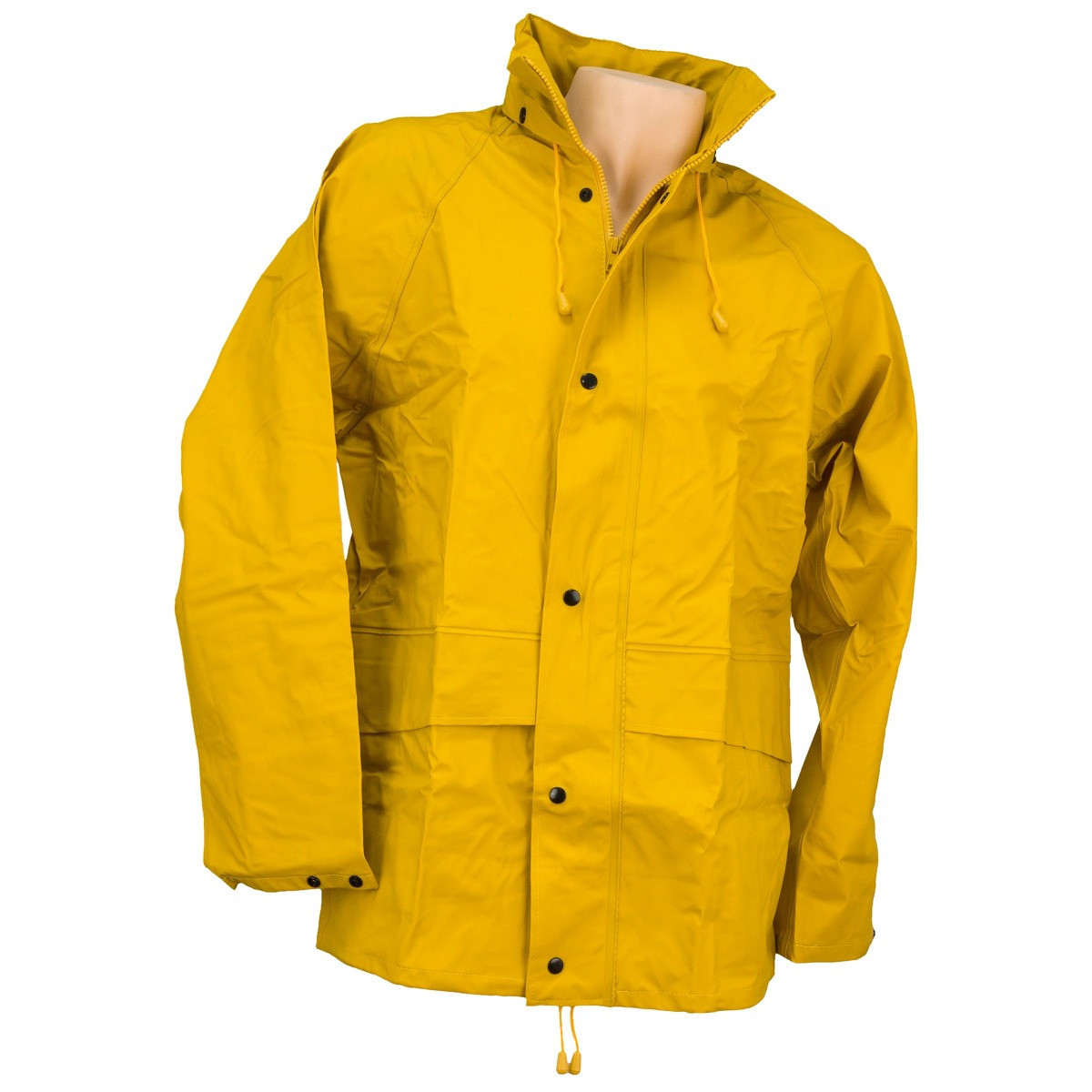 Куртка-дождевик с капюшоном URG-RAIN YELLOW водонепроницаемая, желтого цвета.Urgent (POLAND)