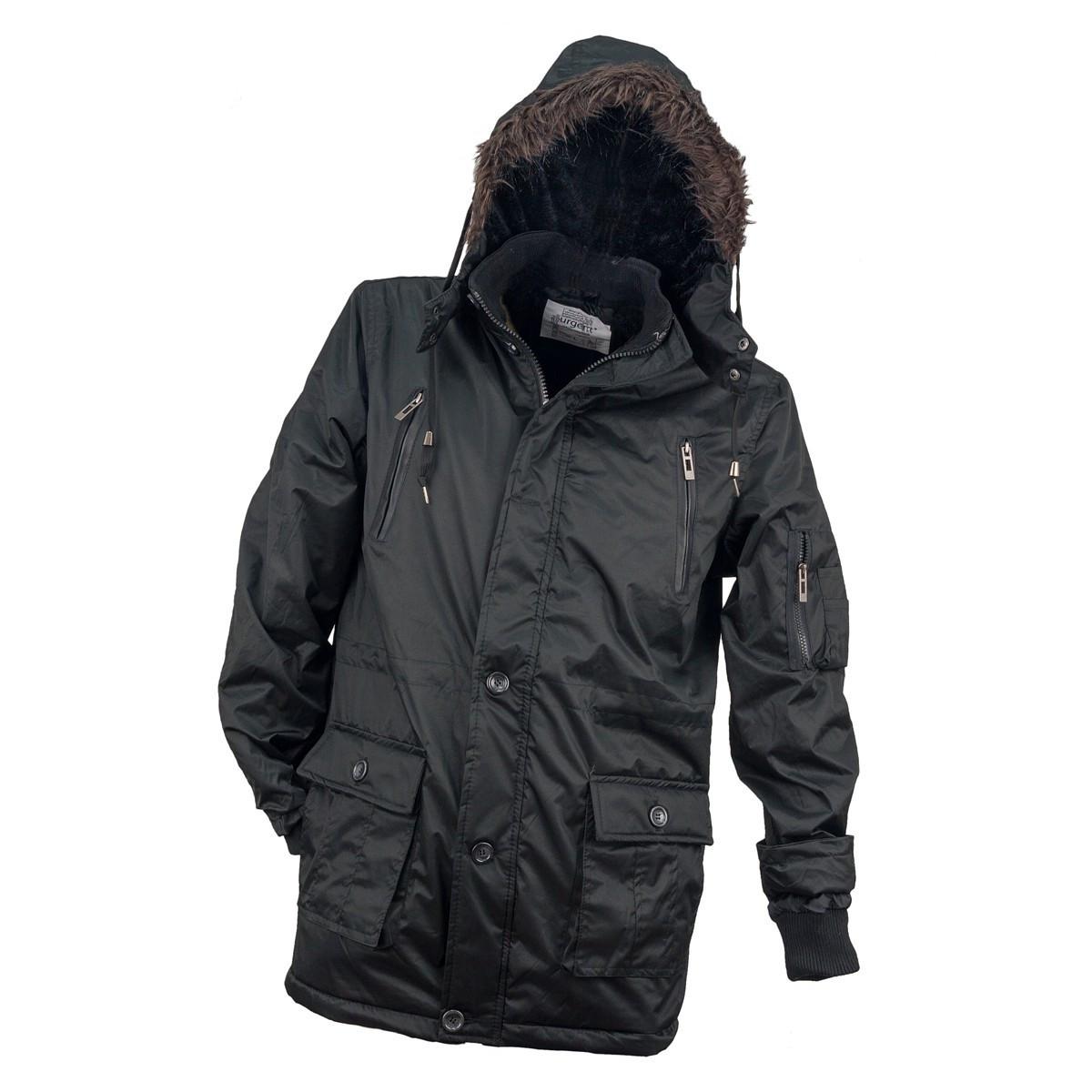 Куртка утёпленная  KURTKA OCIEPLANA URG-1720 BLACK из полиэстера,черного цвета.  Urgent (POLAND)