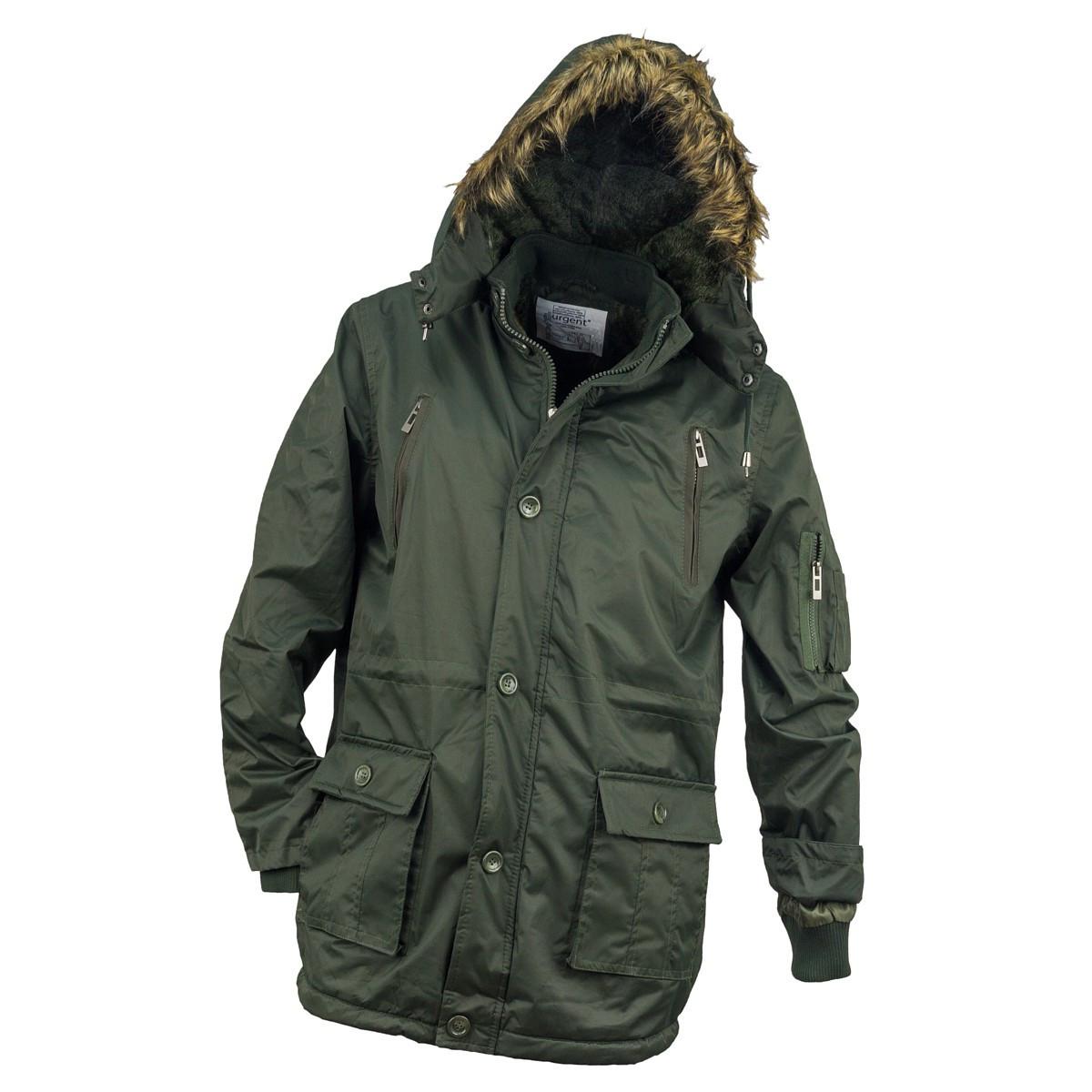 Куртка рабочая KURTKA OCIEPLANA URG-1720 ARMY выполнена из 100% полиэстера, зеленого цвета.  Urgent (POLAND)