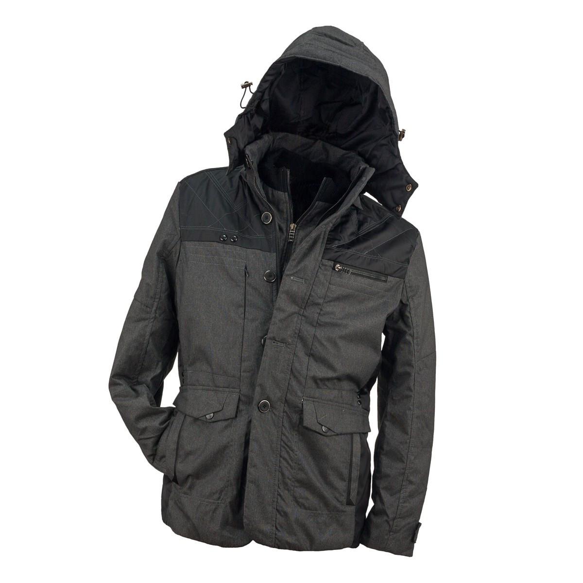 Куртка URG-0912 D.GREY выполнена из 100% полиэстера, черно-серого цвета.  Urgent (POLAND)