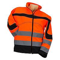 Куртка STRZEGAWCZY POMARAŃ со светотражающими полосами, черно-оранжевого цвета. Urgent (POLAND)