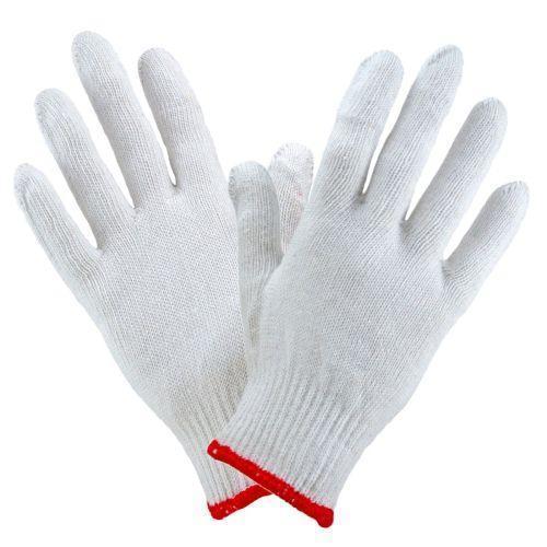 Трикотажные перчатки 1112 из полиэстера и хлопка, белого цвета Urgent (POLAND)