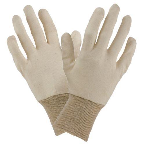 Трикотажные перчатки 1106 с хлопковой вставкой, телесного цвета  Urgent (POLAND)