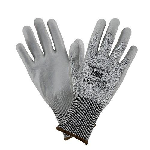 Перчатки 1055 полиуретановые,высокой плотности,серого цвета Urgent (POLAND)