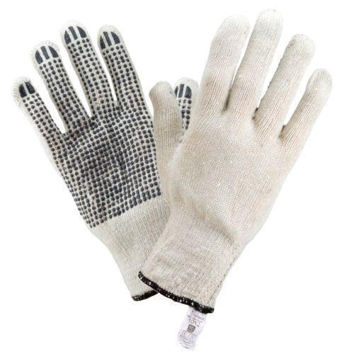 Рабочие перчатки 1012 из полиэстера и хлопка, с ПВХ покрытием, белого цвета. Urgent (POLAND)