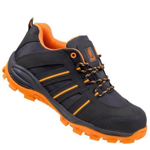 Полуботинки 261 S1 с металлическим носком,антистатические, черно-оранжевого цвета. URGENT (POLAND)