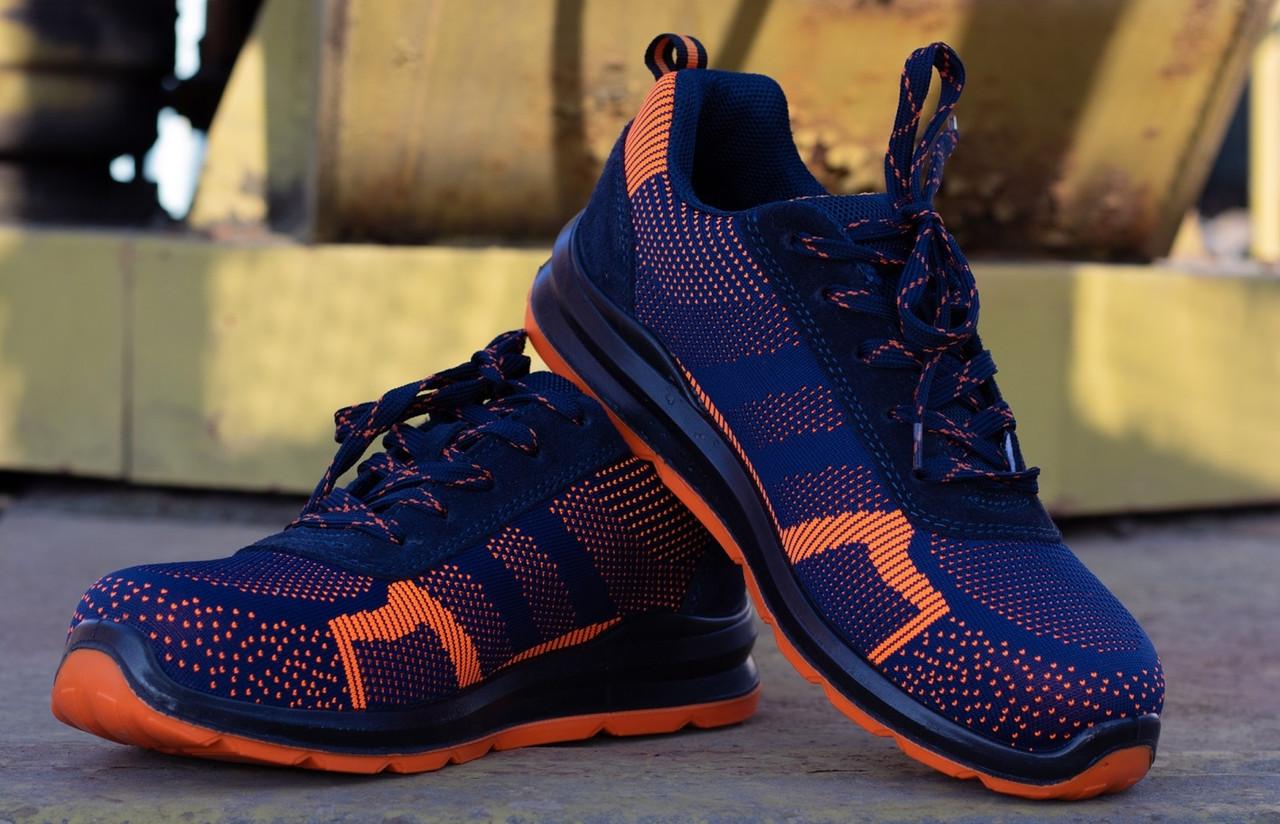 Кроссовки 232 S1 защитная с металлическим носком,антистатические, оранжево синего цвета.  URGENT (POLAND)