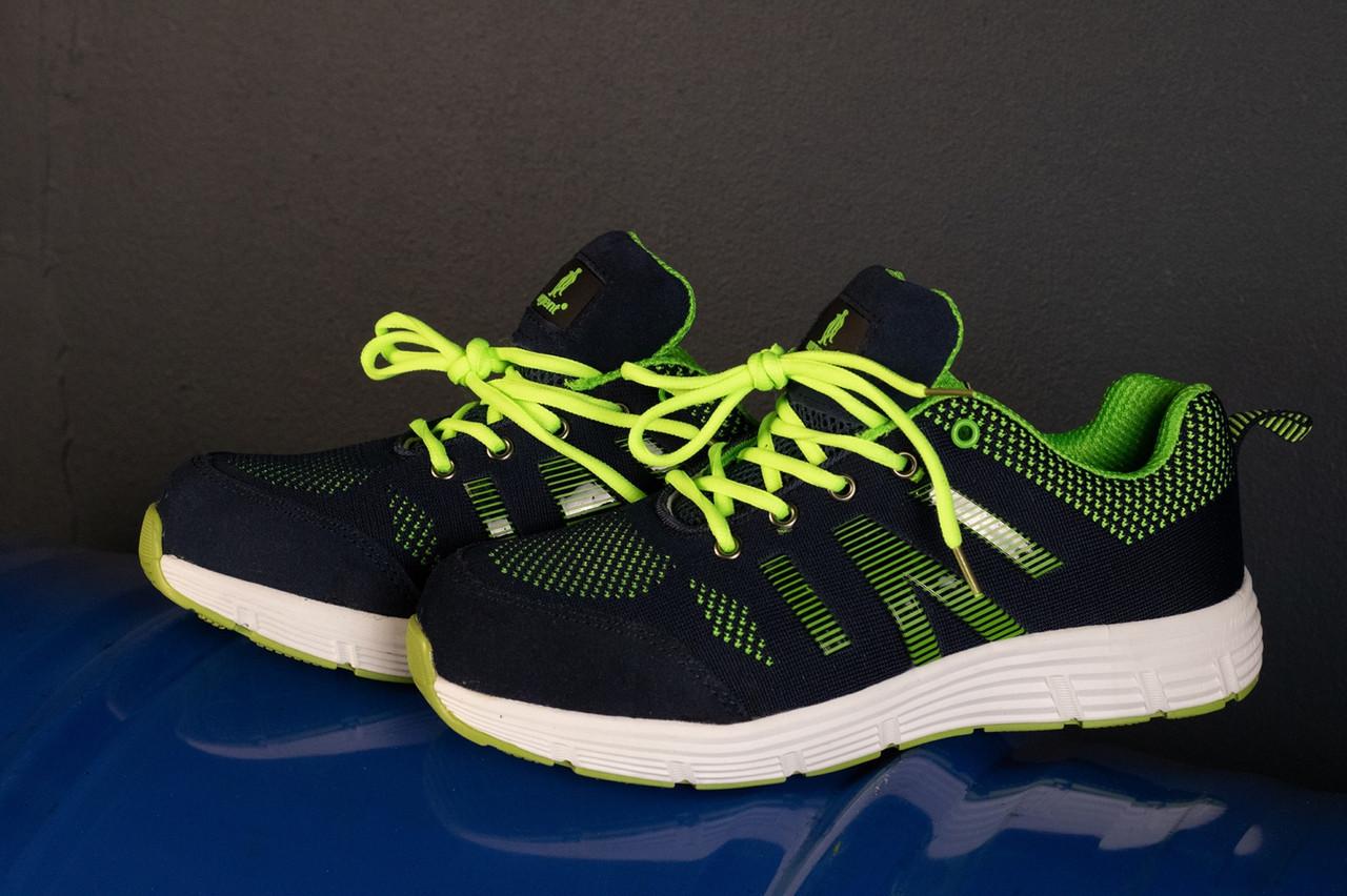 Рабочая обувь GOLF 237 S1 с металлическим носком, салатово-синего  цвета. URGENT (POLAND)