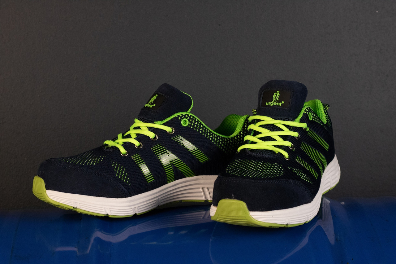 Рабочая обувь GOLF 237 S1 с металлическим носком, салатово-синего  цвета. URGENT (POLAND) 38