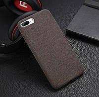 Защитный текстильный чехол для смартфона Apple iPhone 6/6s/6+/6s+7/8/7+/8+/X/XS «iCase» в коричневом цвете