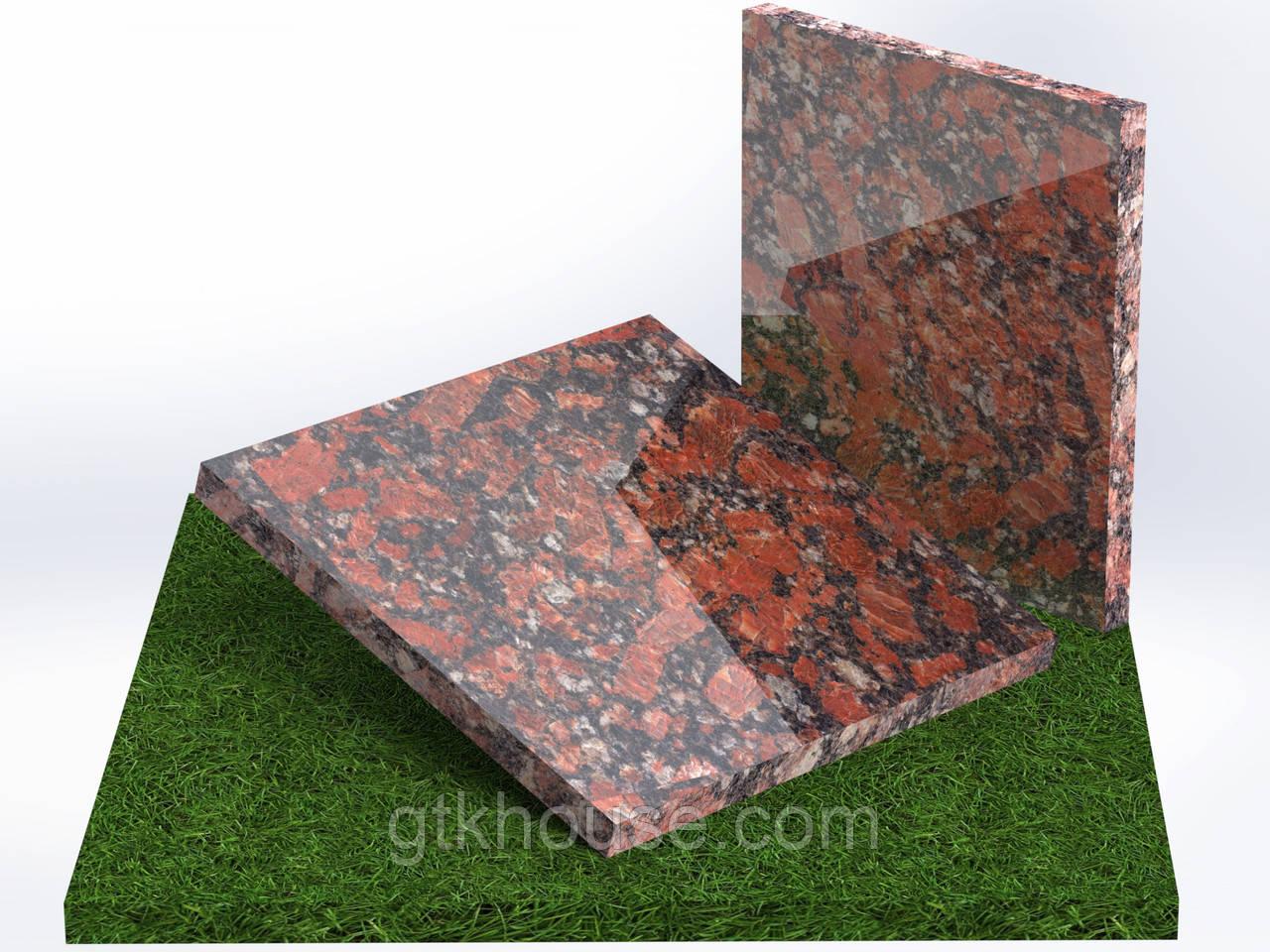 Плитка гранитная полированная Капустинская (Размер 300×300)