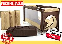 Складной Детский Манеж - Кроватка MOOLINO FUN P900 Бежево-Коричневый (Польша)