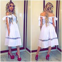 Белое платье с интересным низом