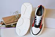 Женские кроссовки Destra красно-белые с натуральной кожи, фото 2