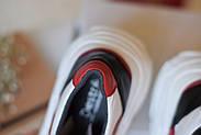 Женские кроссовки Destra красно-белые с натуральной кожи, фото 3