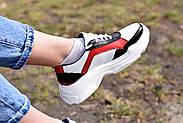 Женские кроссовки Destra красно-белые с натуральной кожи, фото 5