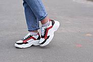Женские кроссовки Destra красно-белые с натуральной кожи, фото 6